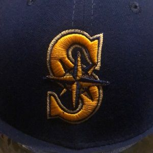 Stickered Seattle Mariners cap. Great shape.